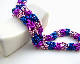 Pride not Prejudice Braid Chainmaille Necklace