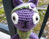 Violet the Cat Crocheted Doll