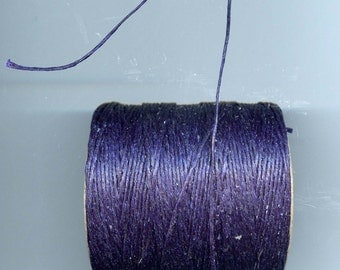Navy Waxed Cord Thread 5 yards