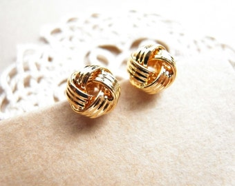 Tie The Knot Earrings / Nautical knot earrings / Gold Knot Earrings / Bridesmaids Gift