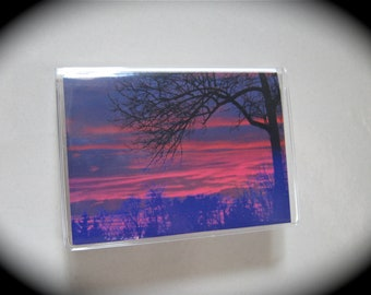Sunset vinyl wallet
