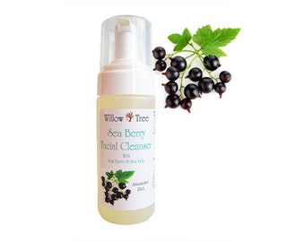 Sea Berry Facial Cleanser - with Glycolic Acid - 5oz Foaming Pump