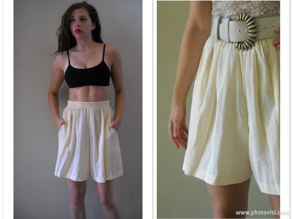 Vintage Semi Sheer Gauzy High Waisted Culottes - - - Made in USA