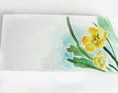 Yellow Flowers Notepad Sketchbook Travel Journal Scrapbook