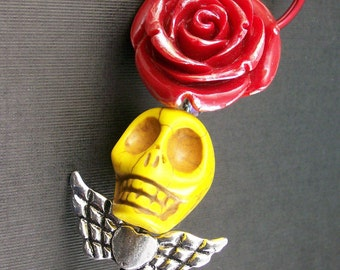 Sugar Skull Pendant and Keychain