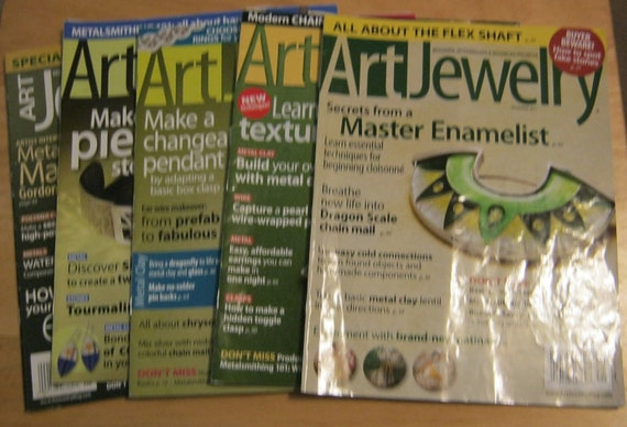 5 Back Issues Art Jewelry Magazine Great Articles Serious Artists Selling work