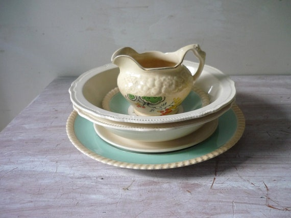 Chippy China in Cream and Aqua - Perfect for Mosaic art