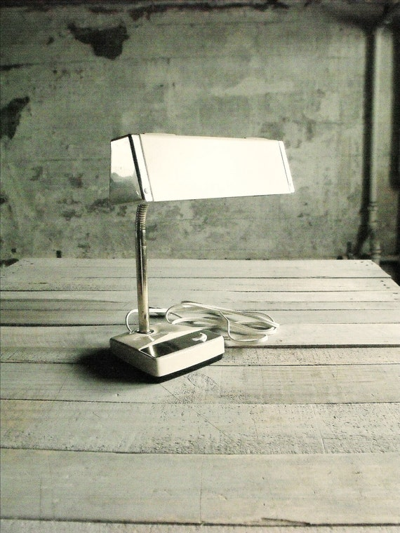 ON HOLD - Vintage Goose Neck Desk Lamp