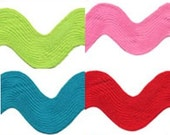 3 Yards of 2 1/4 Inch Mega Ric Rac - choose from 8 colors
