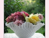 Reserved for Tammy - Fenton Hobnail Bowl - Centerpiece