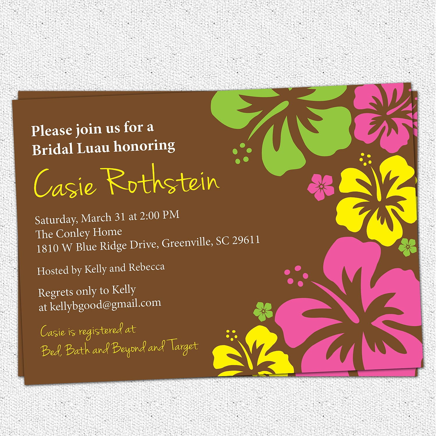Bridal Shower Invitations Luau Bridal Shower Invitations Free