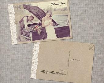 "Vintage Wedding Thank You Cards / Wedding thank yous / Wedding Thank You Cards / Thank you Cards / Thank you postcard - the ""Maribelle"""