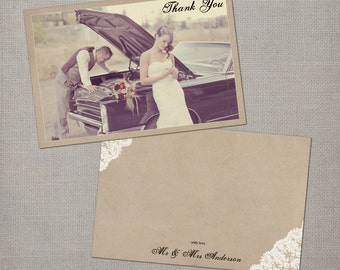 "Wedding Thank You Notes, 4x6, Thank You Notes, the ""Maribelle 2"""