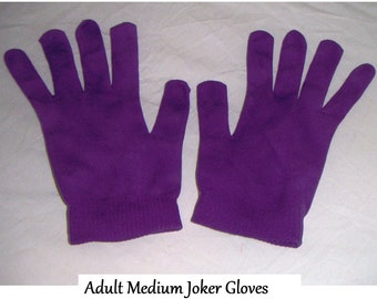 The Joker  Batman  gloves purple costume Villan gloves