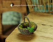 Mossy Fairy Basket with Ivy extra small - WITCH / FAIRYTALE RANGE