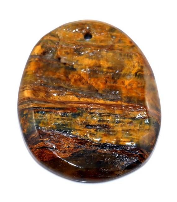 Unique Rough Pietersite pendant bead J37B9273