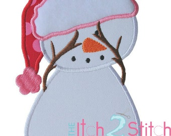 Peek-a-boo Snowman Applique Design In Hoop Size(s) 4x4, 5x7, & 6x10 INSTANT DOWNLOAD now available