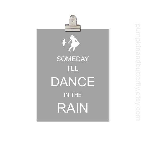 Kids Modern Wall Decor, Home and Living Wall Decor, Modern Nursery, Nursery Art, Modern Kids Wall Art, Someday I'll Dance In The Rain
