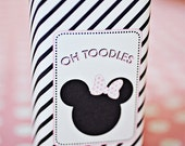 Minnie Mouse Party Juice Box Wraps/Labels