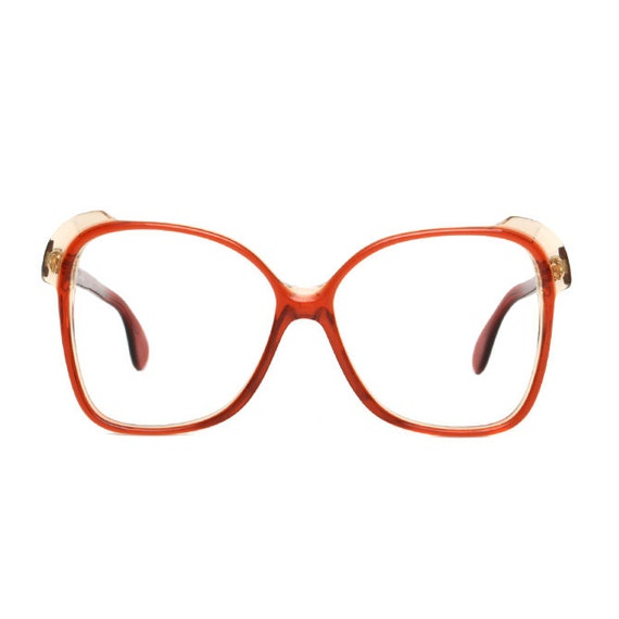 Transparent Red Vintage Eyeglasses - Silhouette