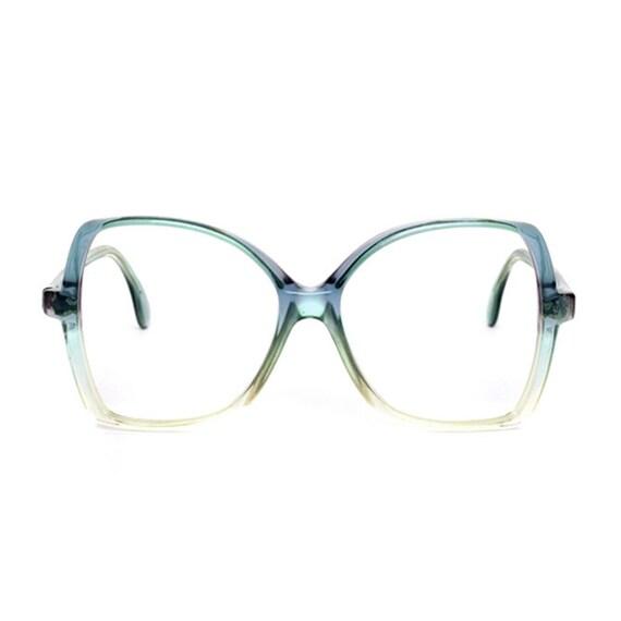 Silhouette - transparent blue / green vintage Eyeglasses