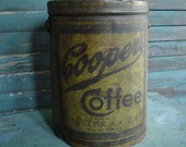 antique Cooper's Coffee Can Waco Texas