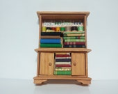 Dollhouse Miniature Sewing Supply Cabinet Hutch 11