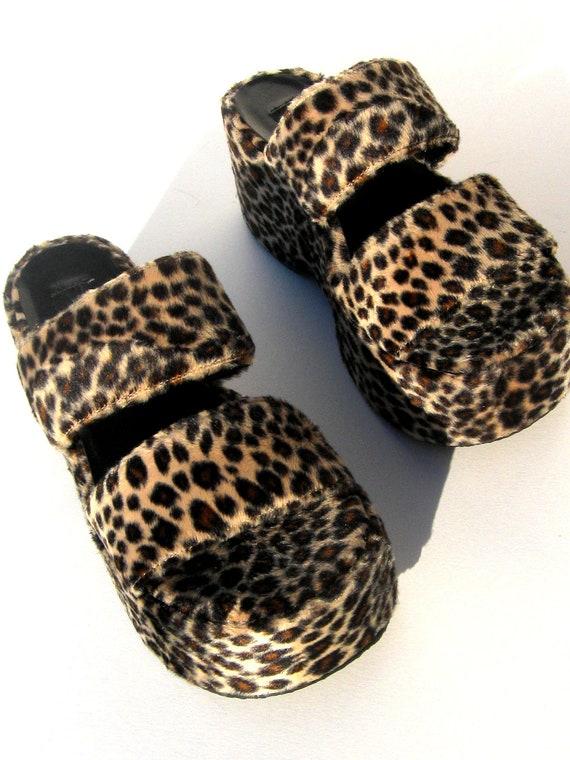 Vintage 90 S Nineties Rave Club Kid Goth Teen Leopard By