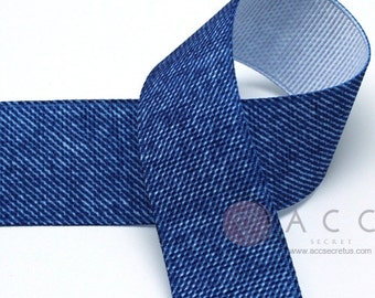 25mm(1'') Light Blue Denim Grosgrain Ribbon