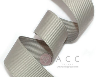 Gray Grosgrain Ribbon - 5mm(2/8''), 10mm(3/8''), 15mm(5/8''), 25mm(1''), and 40mm(1 1/2'')