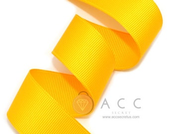 5Yards Yellow Gold Solid Grosgrain Ribbon - 5mm(2/8''), 10mm(3/8''), 15mm(5/8''), 25mm(1''), and 40mm(1 1/2'')