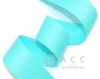 Mint Grosgrain Ribbon - 5mm(2/8''), 10mm(3/8''), 15mm(5/8''), 25mm(1''), and 40mm(1 1/2'')