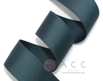 Navy Blue Grosgrain Ribbon - 5mm(2/8''), 10mm(3/8''), 15mm(5/8''), 25mm(1''), and 40mm(1 1/2'')