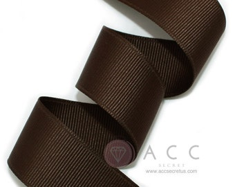 5Yards Dark Brown Solid Grosgrain Ribbon - 5mm(2/8''), 10mm(3/8''), 15mm(5/8''), 25mm(1''), and 40mm(1 1/2'')