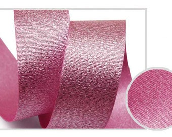 Metallic Sparkle Purple Pink Satin Ribbon - 15mm(5/8'') , and 25mm(1'')