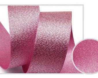 5Yards Metallic Sparkle Purple Pink Satin Ribbon - 15mm(5/8'') , and 25mm(1'') - Glitter Ribbon