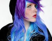 BLUEBERRY BLISS wig -- AMPLIFIED // Color Ombre // Blue Purple // Long Wavy Scene Lolita Hair