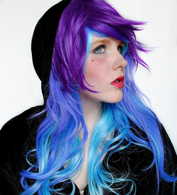items similar to blueberry bliss wig amplified color