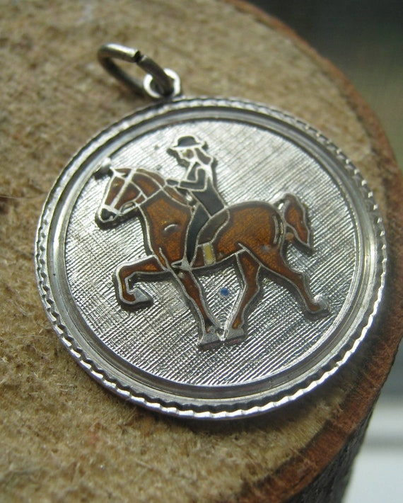 Vintage Small Girls Sterling Silver Charm Equestrian Style with Horse