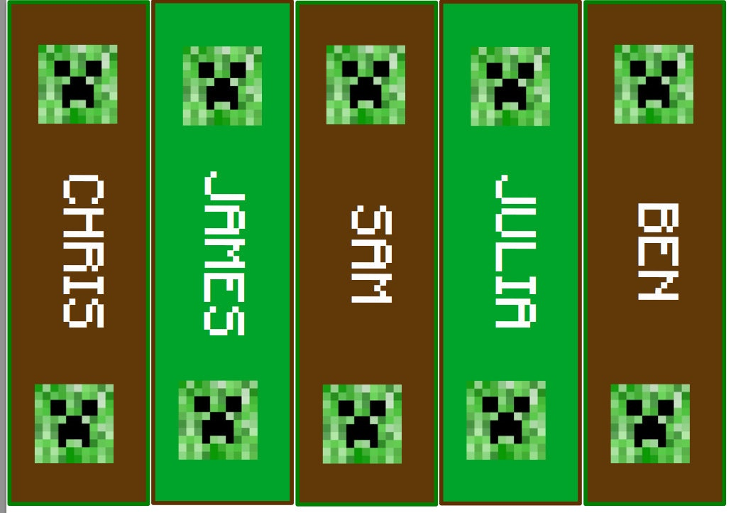 Shocking image within minecraft bookmarks printable