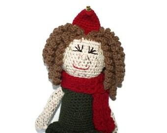 Girl Christmas Elf Doll Crochet Amigurumi