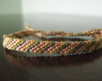 4 Color Basic Stripes Friendship Bracelet