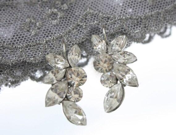 Bridal Earrings, Wedding Earrings, Vintage Earrings, Crystal Earrings, Bridal Jewelry, Wedding Jewelry, Vintage Bridal Jewelry