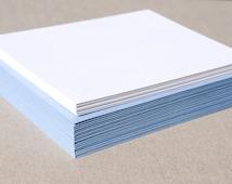 Blank Stationery Set with Light Blue Envelopes - Set of 20 Flat A2 Size Cards