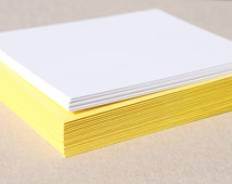 Blank Set of Stationary with Yellow Envelopes - Set of 20 Flat A2 Size Cards