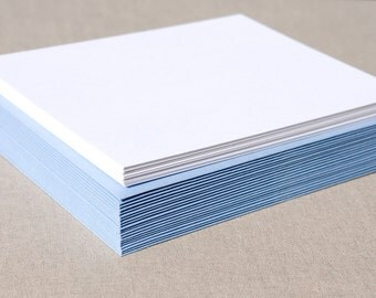 Blank Stationery Set with Light Blue Envelopes - Set of 20 Flat A2 Size Cards