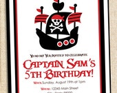 Pirate Birthday invitation - set of 15