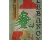 LEBANON 1F- Handmade Passport / Documents Leather Neck Pouch - Travel Art