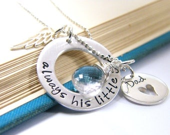 daddy daughter mother daughter memorial necklace always his little girl