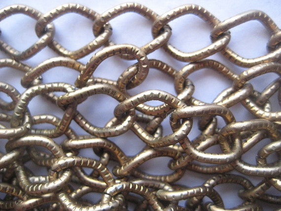 3 feet, Vintage Large 13mm x 11mm Link Bronze Chain